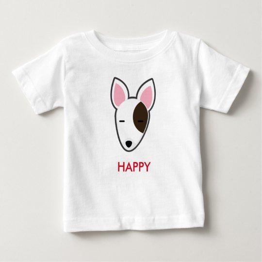 Petory Bull Terrier Happy Kid Baby T-Shirt
