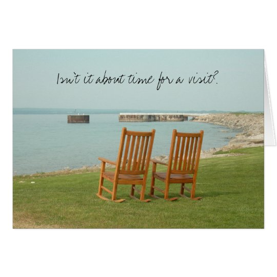 Petoskey Chairs (...time for a visit) Card
