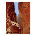 Petra, Jordan, slot canyon Post Cards