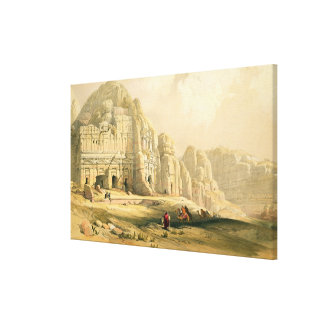 Petra, March 8th 1839, plate 96 from Volume III of Canvas Print
