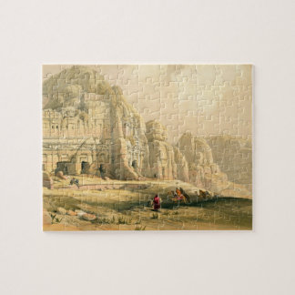 Petra, March 8th 1839, plate 96 from Volume III of Jigsaw Puzzle