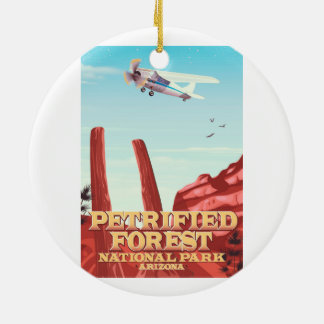 Petrified forest national park, Arizona. Christmas Ornament