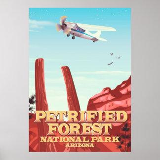 Petrified forest national park, Arizona. Poster