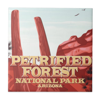 Petrified forest national park, Arizona. Tile