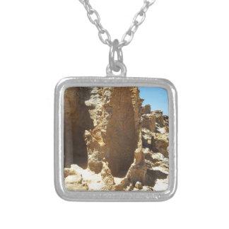 Petrified Forest Square Pendant Necklace