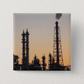 Petrochemical Plant 15 Cm Square Badge