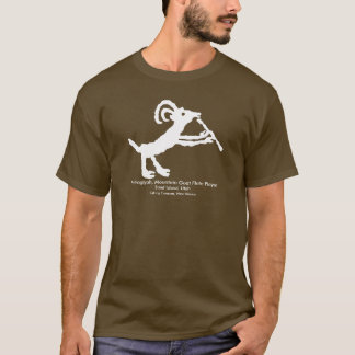 Petroglyph, Mountain Goat Flute Player T-Shirt