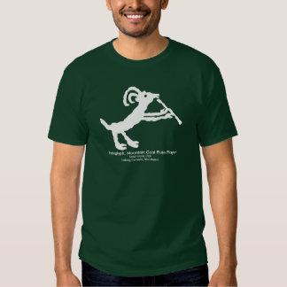 Petroglyph, Mountain Goat Flute Player Tee Shirt