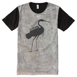 petroglyph UFO Talking Canyons, New Mexico All-Over Print T-Shirt