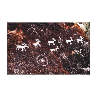 PETROGLYPHS NEVADA DESERT AMERICAN SOUTHWEST CANVAS PRINT