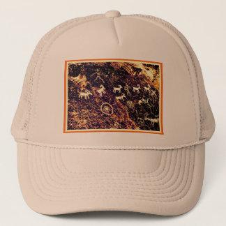 PETROGLYPHS NEVADA DESERT AMERICAN SOUTHWEST TRUCKER HAT
