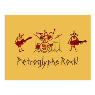 Petroglyphs Rock Band Post Card