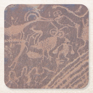Petroglyphs Square Paper Coaster