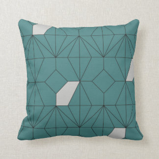 Petrol Blue Diamond Cushion