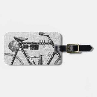 Petrolette Omega Motorcycle, 1895 Luggage Tag