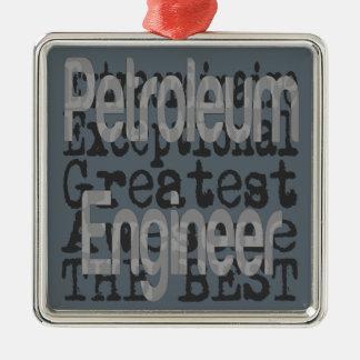 Petroleum Engineer Extraordinaire Silver-Colored Square Decoration