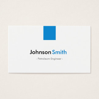 Petroleum Engineer - Simple Aqua Blue Business Card