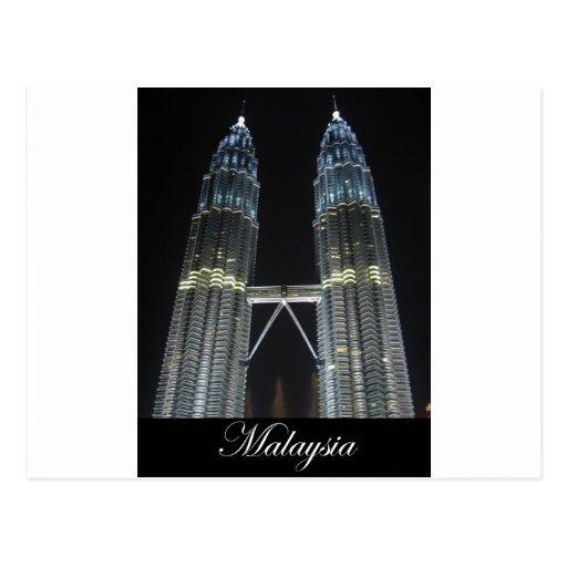 Petronas Towers at Night Postcard