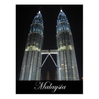 Petronas Towers at Night Postcard