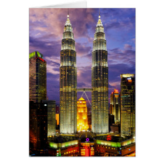 Petronas Towers Card