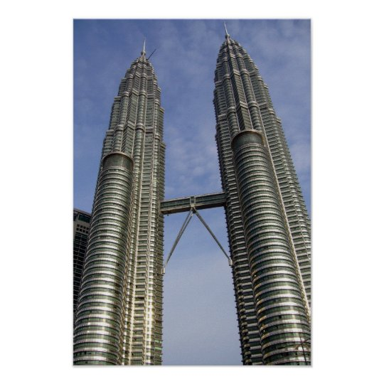 petronas towers kl poster