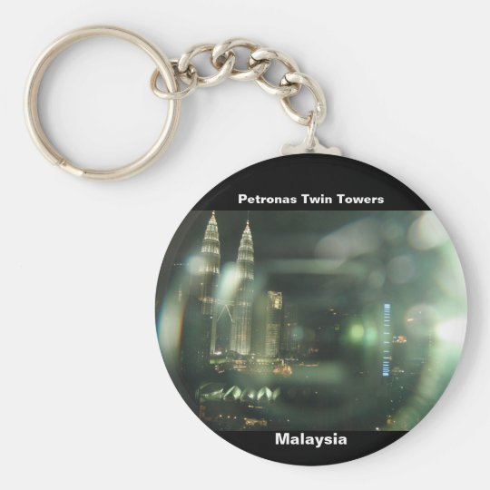 Petronas Twin Towers Basic Round Button Key Ring