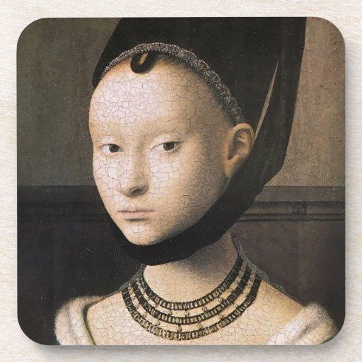 Petrus Christus portrait of a young woman Coasters