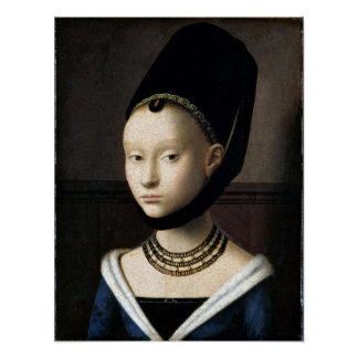 Petrus Christus Portrait of a Young Woman Poster