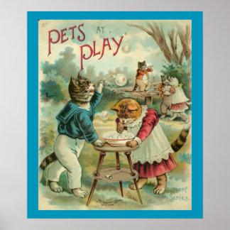 Pets At Play Print