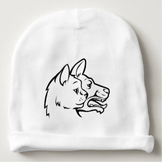 Pets Cat and Dog Faces Icon Concept Baby Beanie