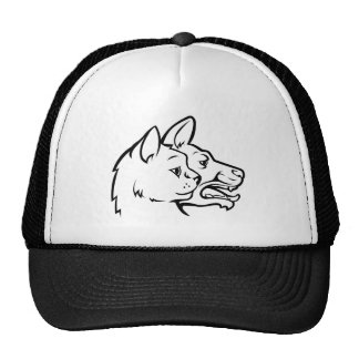 Pets Cat and Dog Faces Icon Concept Cap
