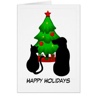 Pets Christmas Greeting Card