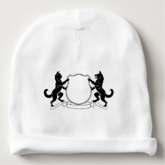 Pets Crest Coat of Arms Heraldic Shield Baby Beanie