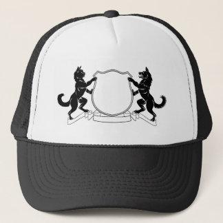 Pets Crest Coat of Arms Heraldic Shield Trucker Hat