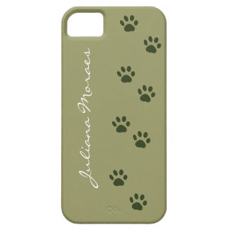 pets dog cat pawprints add name iPhone 5 case