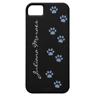pets dog cat pawprints personalized barely there iPhone 5 case