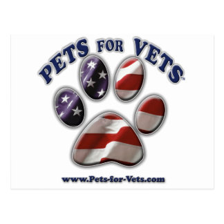 Pets for Vets www pets-for-vets com Postcard