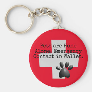 Pets Home Alone ICE Contact Key Ring