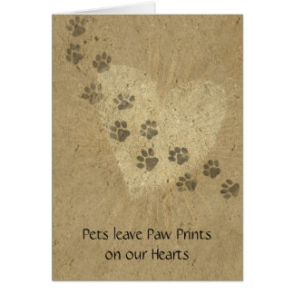 Pets leave Paw Prints on our Hearts Cards