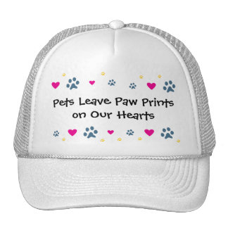 Pets Leave Paw Prints on Our Hearts Hats