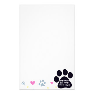 Pets Leave Paw Prints on Our Hearts Personalized Stationery