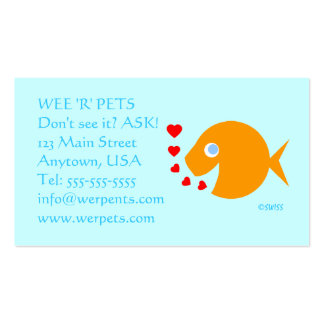 Pets or Tropical Fish Business Card