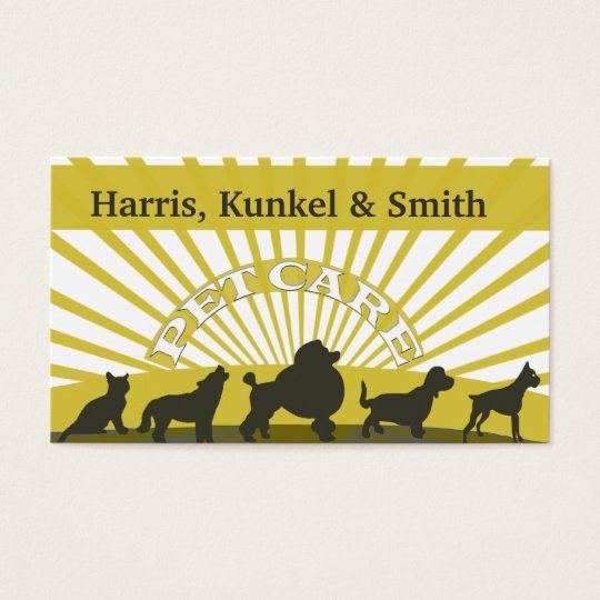 Pets Parade Cats Dogs Sunshine Party - Pet Care Business Card