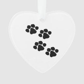 Pets Paw Prints For Animal Lovers Ornament