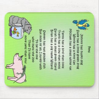 Pets Poem Mousepads