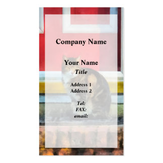 Pets - Tabby Cat by Red Door Business Cards