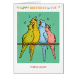 Petshop Quartet Birthday Card