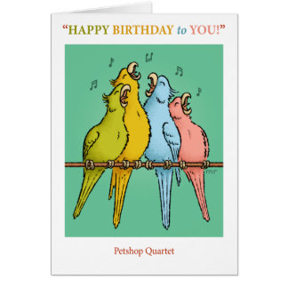 Petshop Quartet Birthday Card