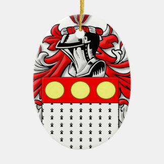 Pettengill Coat of Arms Ceramic Oval Decoration