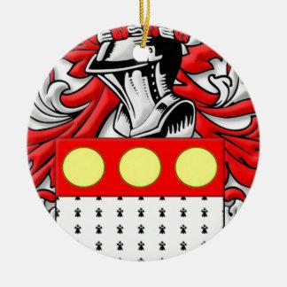 Pettengill Coat of Arms Round Ceramic Decoration